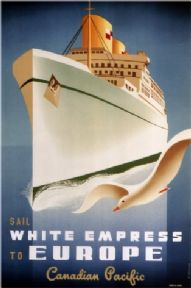 Vintage Travel Poster Canadian Pacific to Europe